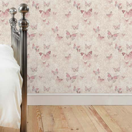 Botanica Butterfly Blush Wallpaper