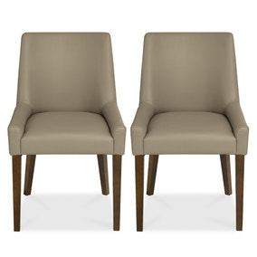 Logan Walnut Pair of Dining Chairs