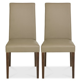 Logan Walnut Pair of Taper Chairs