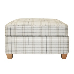 Adele Check Porter Footstool