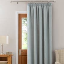 Duck Egg Solar Thermal Pencil Pleat Door Curtain