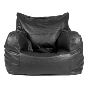 Black Leather Look Easy Seat