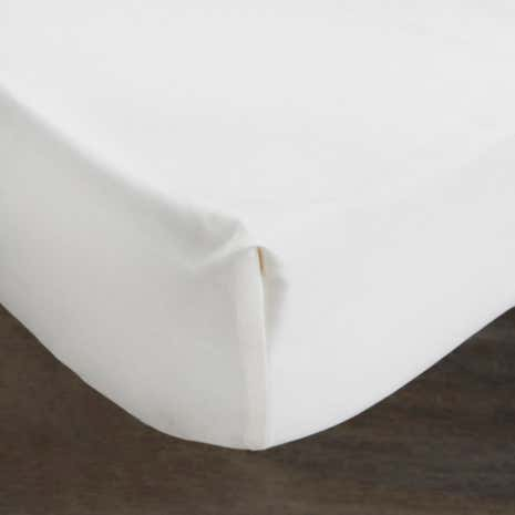 Hotel Pima 400 Thread Count White 32cm Fitted Sheet