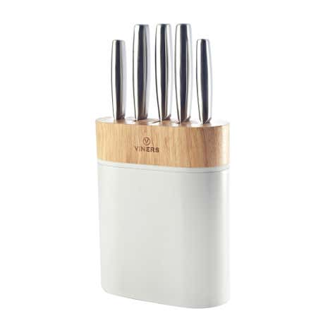 Viners Arc White Five Piece Knife Block