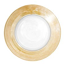 Gold Spectrum Charger Plate