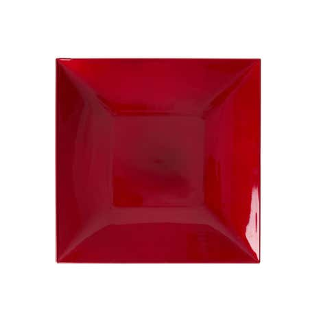 Red Square Charger Plate