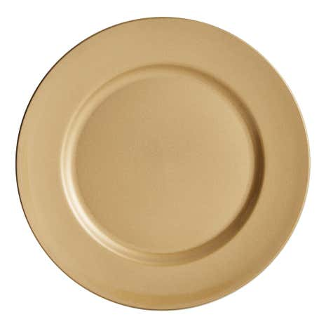 Gold Glitter Charger Plate