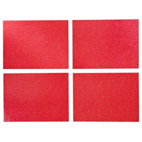 Set of 4 Rectangle Glitter Place Mats