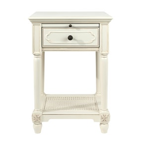 Dorma Juliette Ivory 1 Drawer Bedside Table
