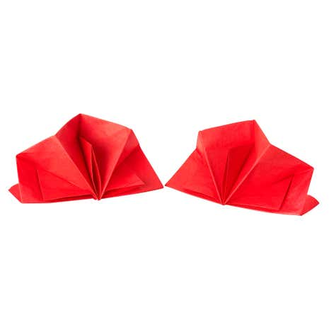 Folded Napkin Red