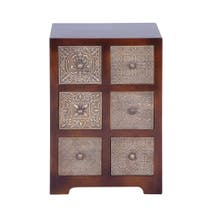 Havina Dark Wood 6 Drawer Storage Unit
