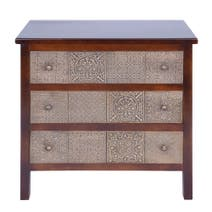 Havina Dark Wood 3 Drawer Chest