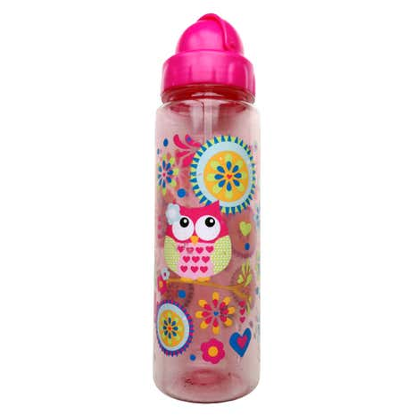 Patchwork Owl Water Bottle
