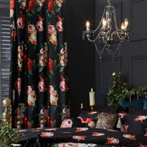 Dark Arts Lined Eyelet Curtains