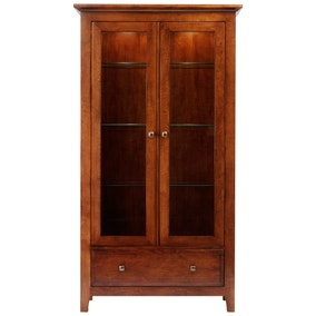 Brooklyn Dark Wood Display Cabinet
