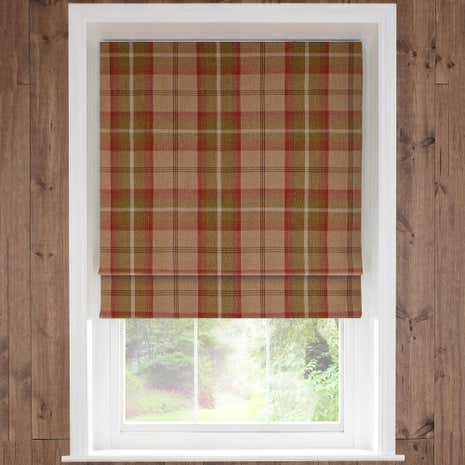 Highland Rust Check Blackout Roman Blind