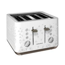 Morphy Richards White Prism 4 Slice Toaster