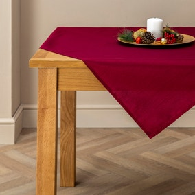 Wine Silk Tablecloth