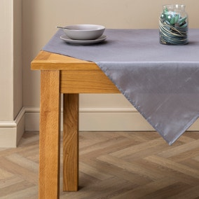 Faux Silk Silver Tablecloth