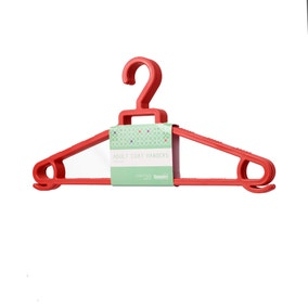 Spring Green Pack of 6 Adult Clothes Hangers