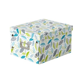 Scandi Leaves Foldable Storage Box