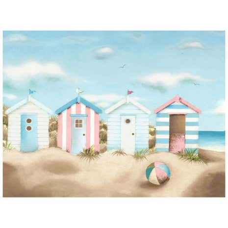 Beach Huts Canvas