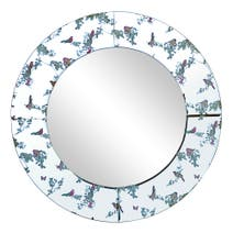 Beautiful Birds Mirror 60cm Dia Multi