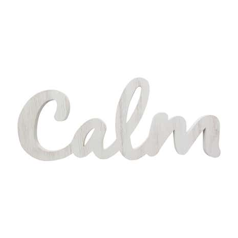 Calm Wood Hanging Word