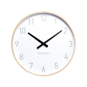 Elements Natural Wood Wall Clock