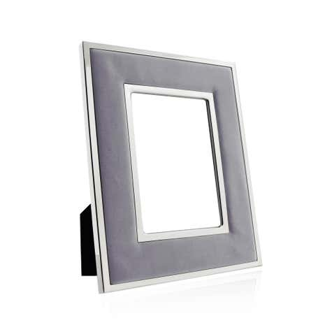 Hotel Grey Faux Suede Photo Frame