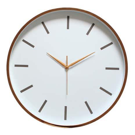 Copper Metallic Wall Clock