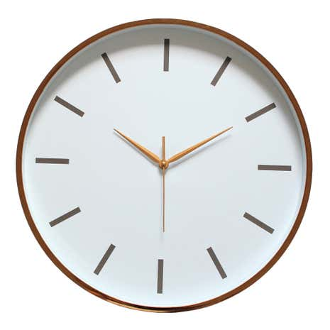 Copper Metallic Wall Clock