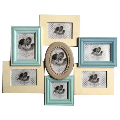 Pretty Pastels 7 Aperture Photo Frame