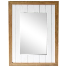 White Purity Wooden Mirror