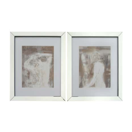 Set of 2 Nude Framed Prints