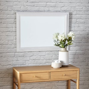 white wooden mirror
