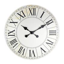 White Wooden Roman Numeral Clock