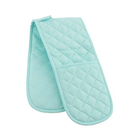 Duck Egg Candy Rose Double Oven Glove
