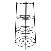 Global Fusion 4 Tier Black Pan Stand