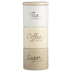 Tea Coffee and Sugar Storage Jars