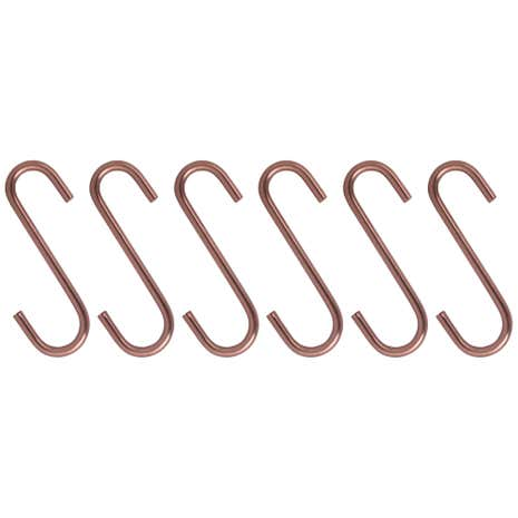 Set of 6 Copper Hooks