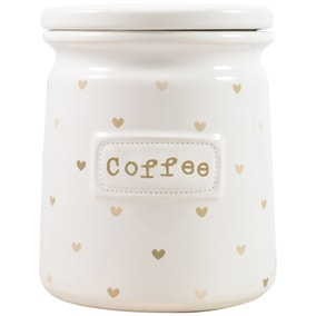 Taupe Sweethearts Coffee Canister