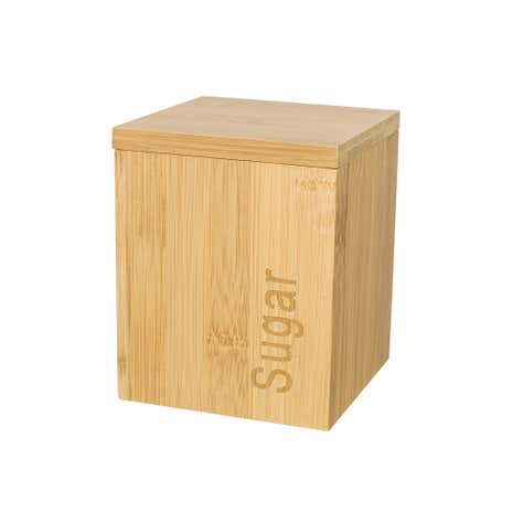 Bamboo Wooden Sugar Canister