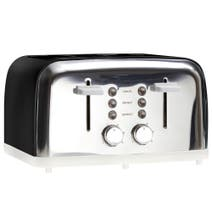 Candy Rose Black 4 Slice Toaster