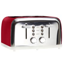 Candy Rose Red 4 Slice Toaster