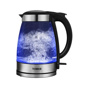 Tower T10007 1.7L Illuminated Glass Kettle