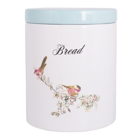 Beautiful Birds Bread Crock