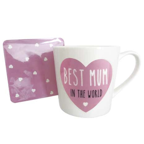 Best Mum In The World Mug and Coaster Set