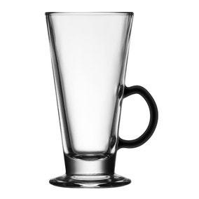Black Handle Latte Glass