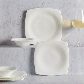 Dorma Cambridge White 12 Piece Dinner Set